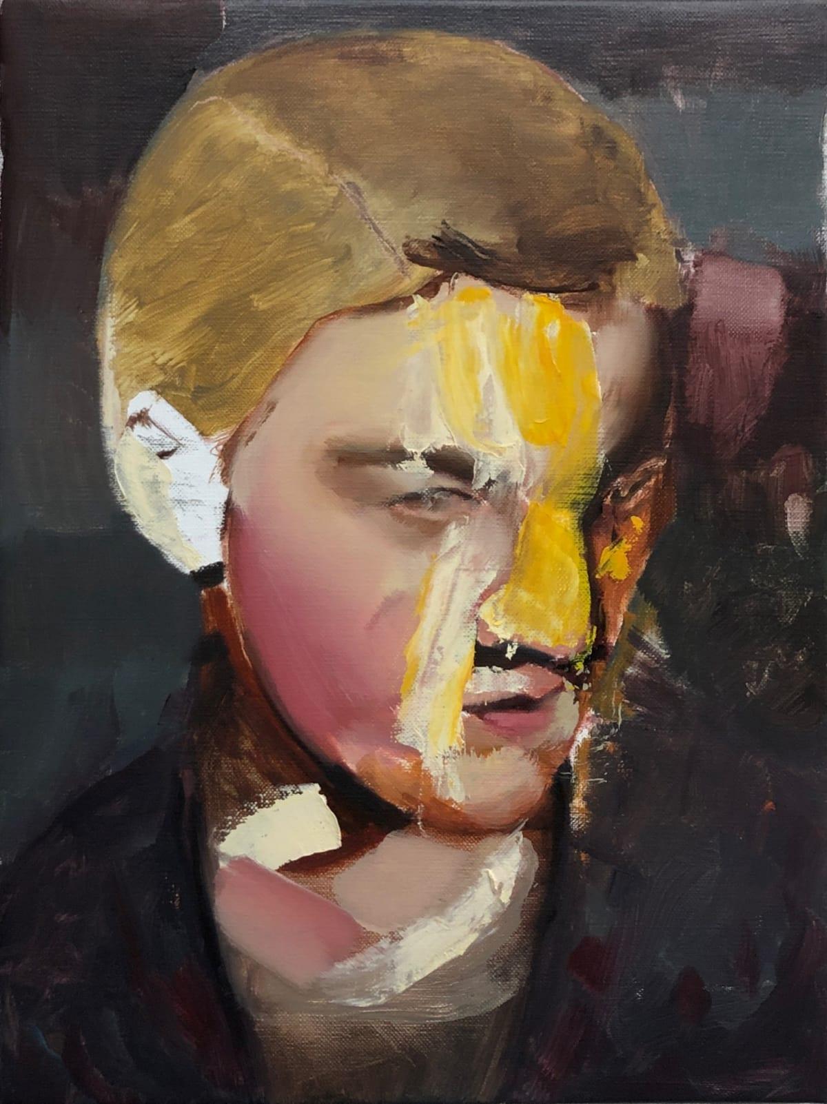 Matteo Venturi Study for a head , 2020 Oil, Wax on Linen 30 x 40 cm 12 x 16 in