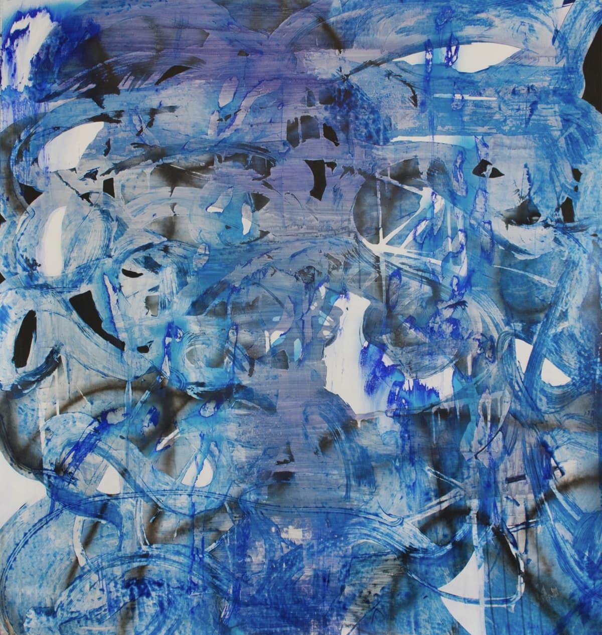 Chris Trueman SHPWRK, 2018 Acrylic Paint & Acrylic Spray Paint on Yupo 66 x 60 in 167.6 x 152.4 cm