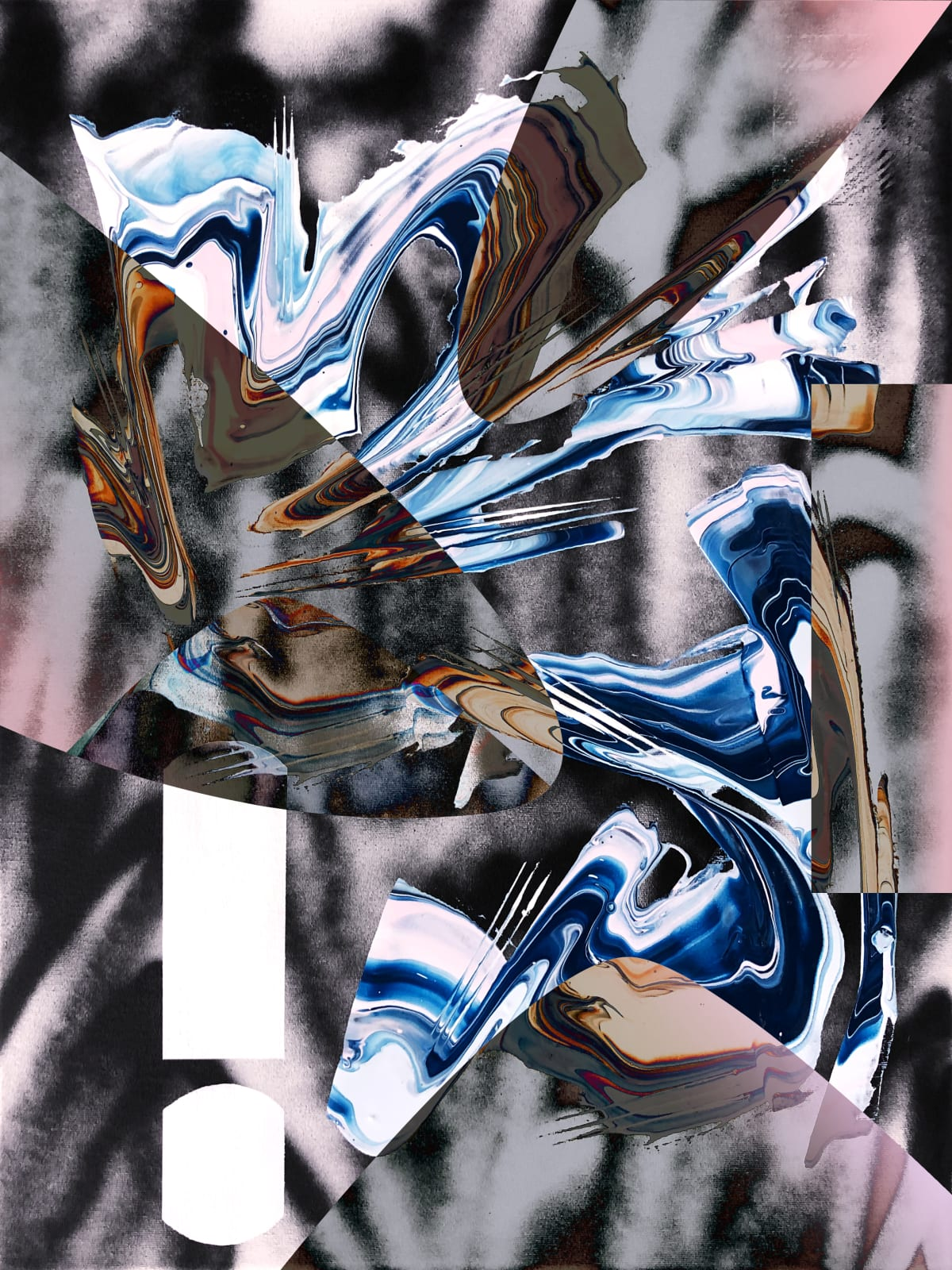 Jay Jermyn Filtration 012, 2019 Acrylic & Spray Paint on Canvas 61 x 45.7 cm 24 1/2 x 18 in