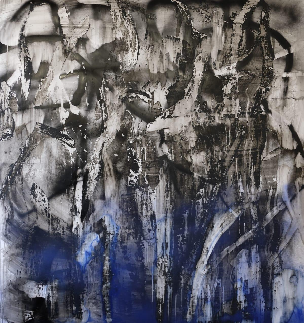 Chris Trueman DBF, 2018 Acrylic Paint & Acrylic Spray Paint on Yupo 63 x 60 in 160 x 152.4 cm
