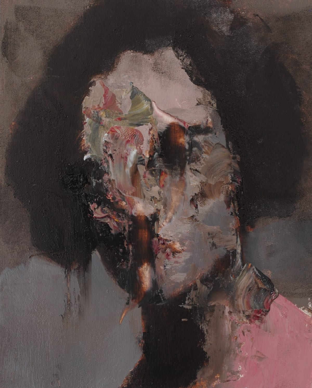 Jean-Luc Almond, Untitled Face, 2018
