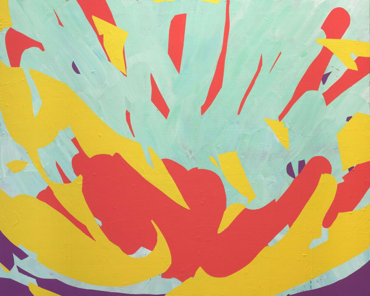 Davide Zappia Fuoco, 2020 Acrylic on Canvas 100 x 80 cm 39 3/8 x 31 1/2 in