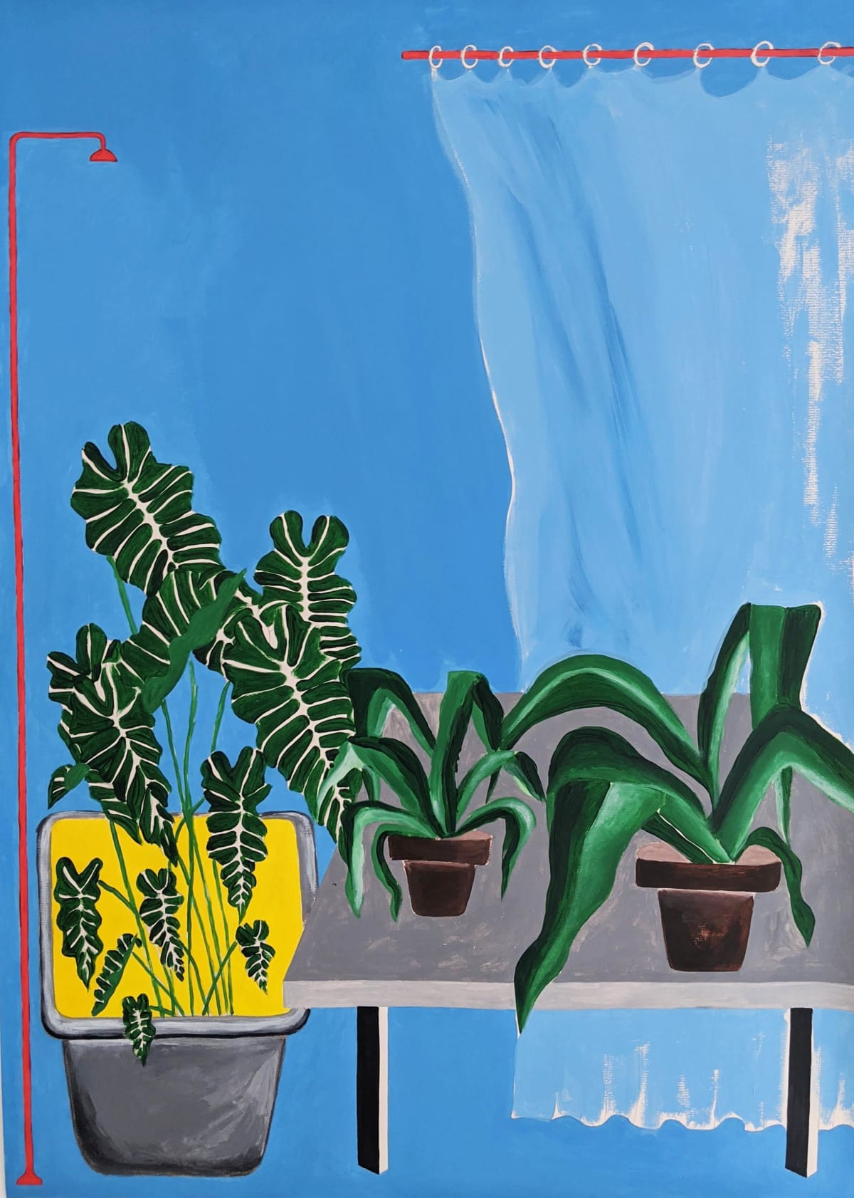 Cathy Tabbakh Not so Fresh Air Today, 2020 Ink and Acrylic on Paper 50 x 70 cm 19 3/4 x 27 1/2 in