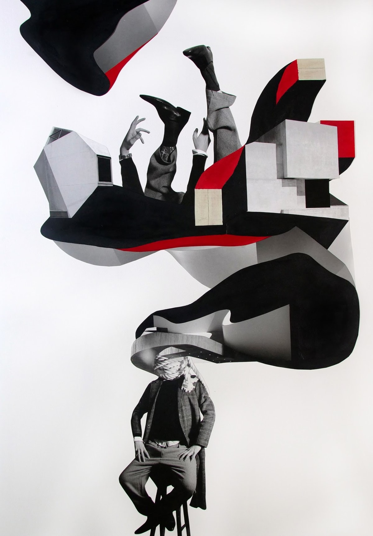 Gustavo Amaral Todas as vezesque eu marquei de me encontrar eu esperei, 2019 Collage on Paper 70 x 100 cm 27 1/2 x 39 3/8 in