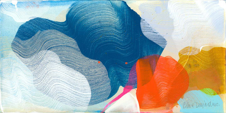 Claire Desjardins A Little Adventure , 2020 Acrylic on Canvas 20.3 x 40.6 cm 8 x 16 in