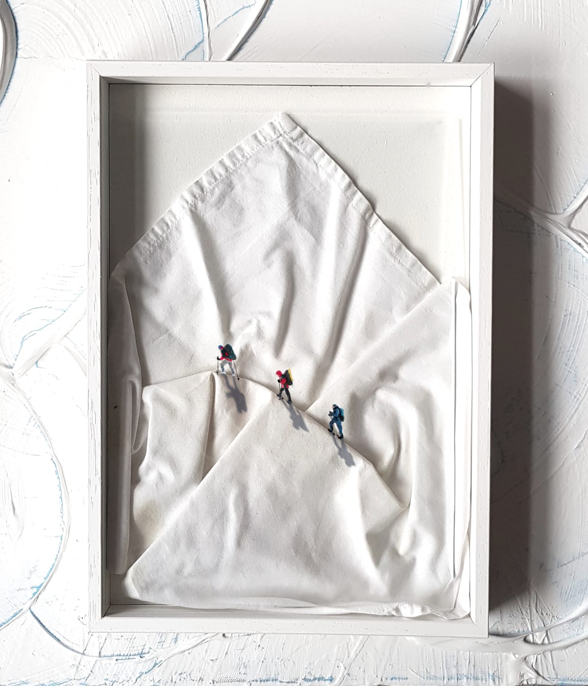 Golsa Golchini Perfect Imperfections, 2020 Mixed Media, White Sheet, Glass, Acrylics, Framed 24 x 34 cm 9 1/2 x 13 3/8 in