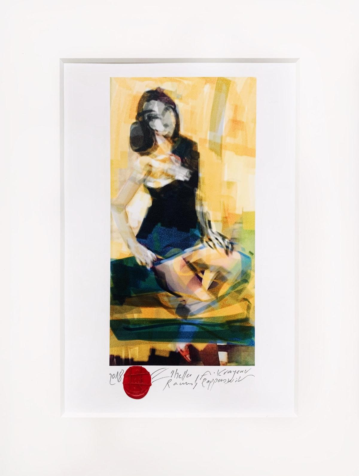 Krayem Maria Awad Heller Raum, 2018 Digital Art, Glicee Print on UV Coated Paper Piece Unique 30 x 20 cm (Framed) 12 x 8 in (Framed)