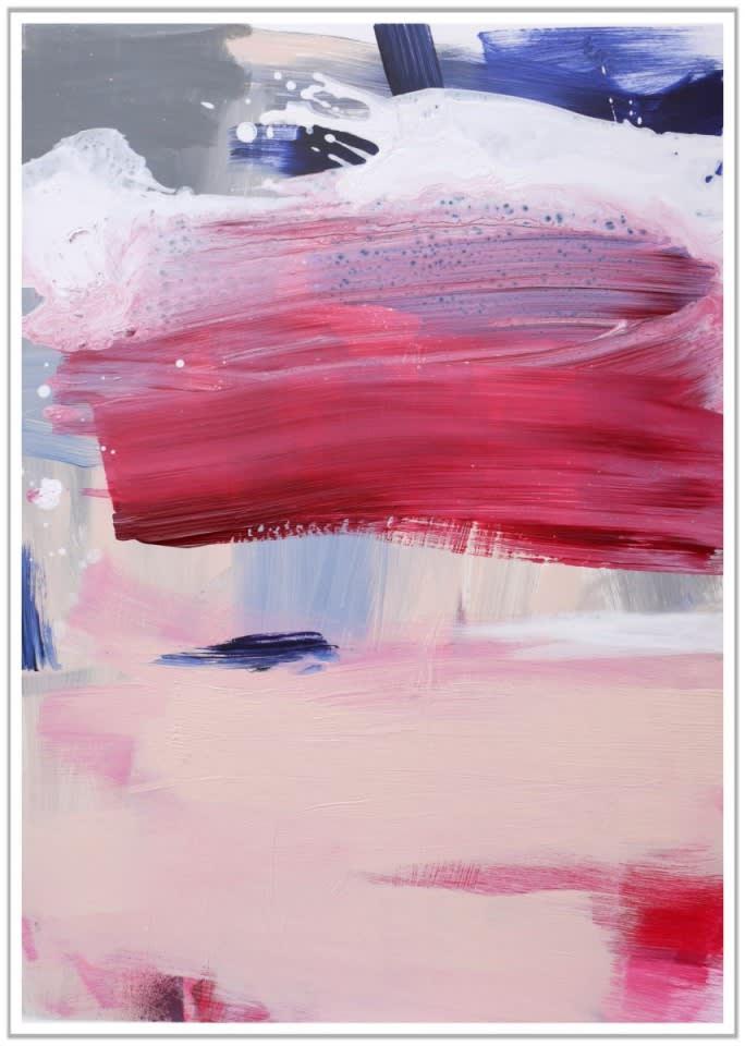 Daniela Schweinsberg Wandering Thoughts III, 2018 Acrylic / mixed media on paper 70 x 50 cm 27 1/2 x 19 1/2 in