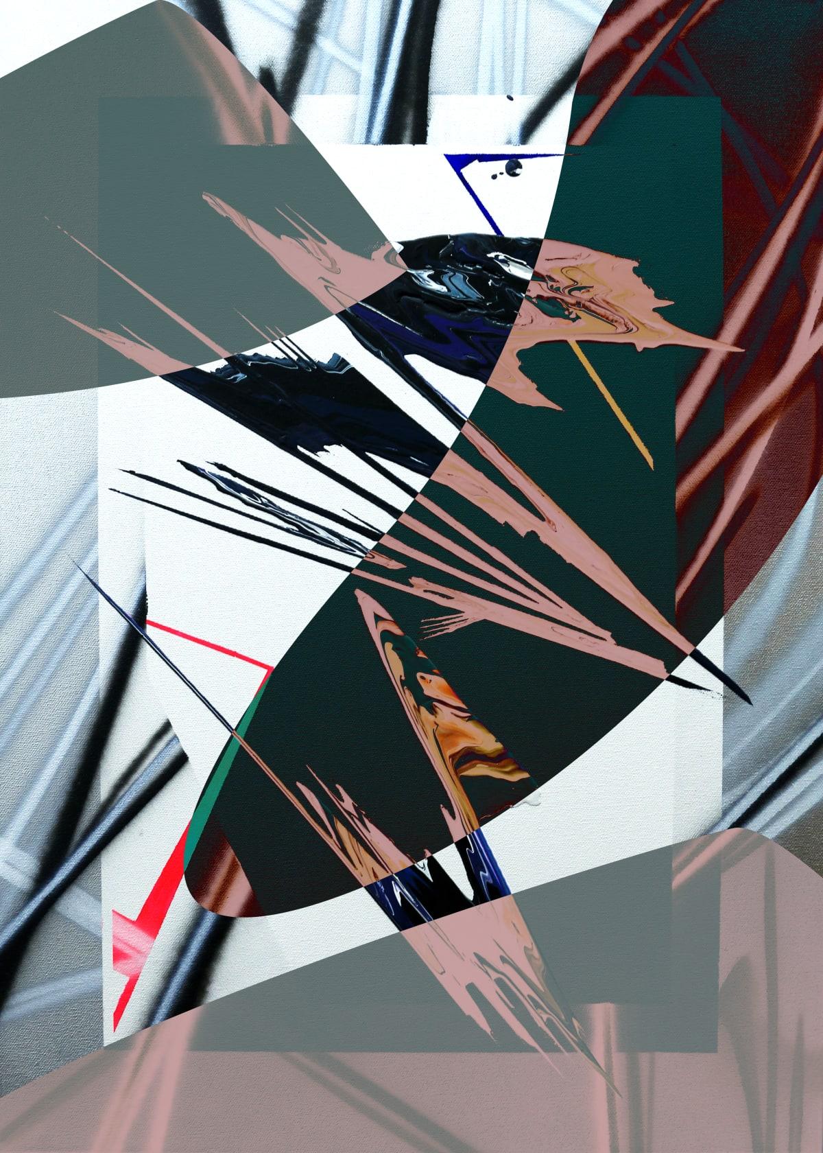 Jay Jermyn External V2, 2019 Acrylic & Spray Paint on Canvas 71 x 51 cm 28 x 20 1/2 in