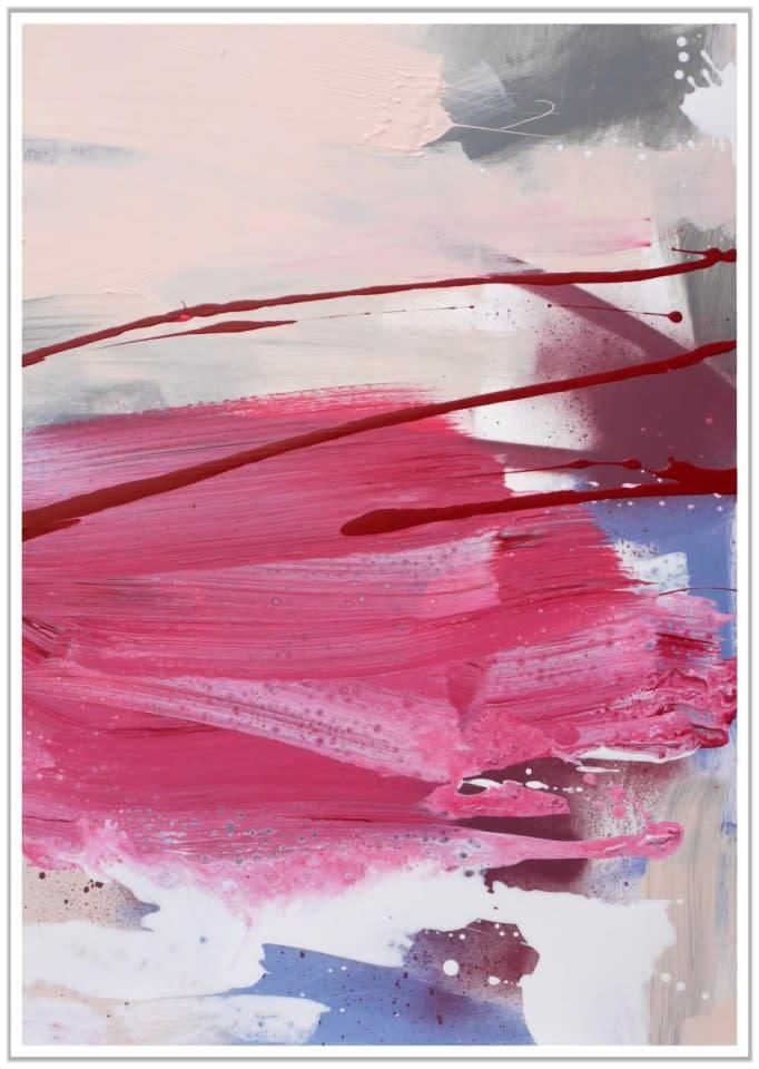 Daniela Schweinsberg Wandering Thoughts II, 2018 Acrylic / mixed media on paper 70 x 50 cm 27 1/2 x 19 1/2 in