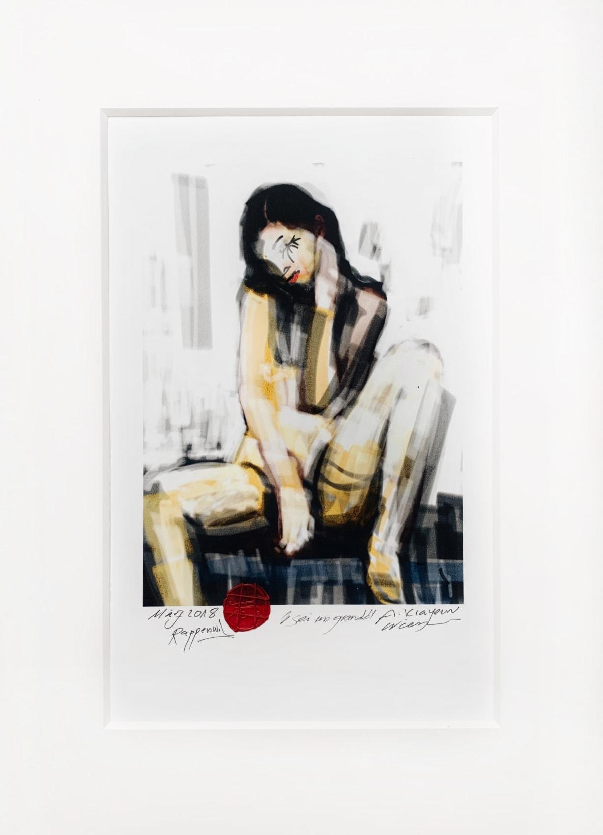 Krayem Maria Awad Sei un Grande, 2018 Digital Art, Glicee Print on UV Coated Paper Piece Unique 30 x 20 cm (Framed) 12 x 8 in (Framed)