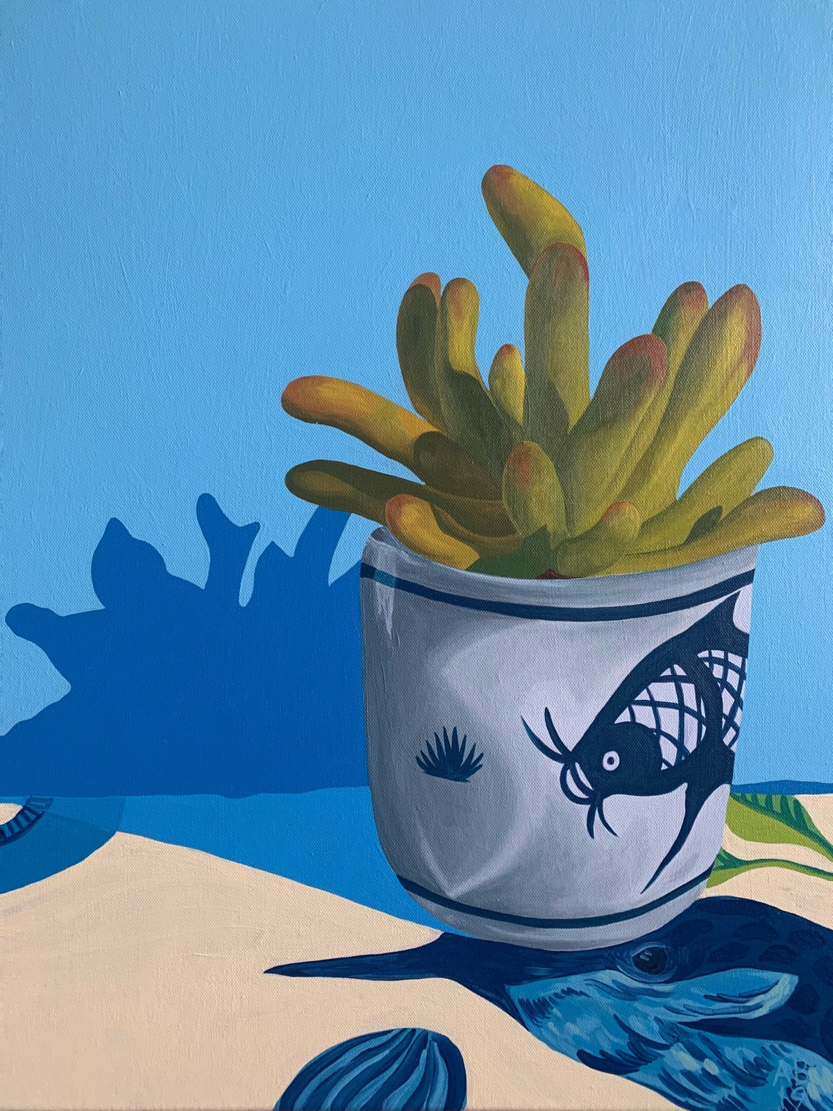 Amy Bultena Bitty Succulent , 2019 Acrylic on Canvas 45.7 x 61 cm 18 x 24 in