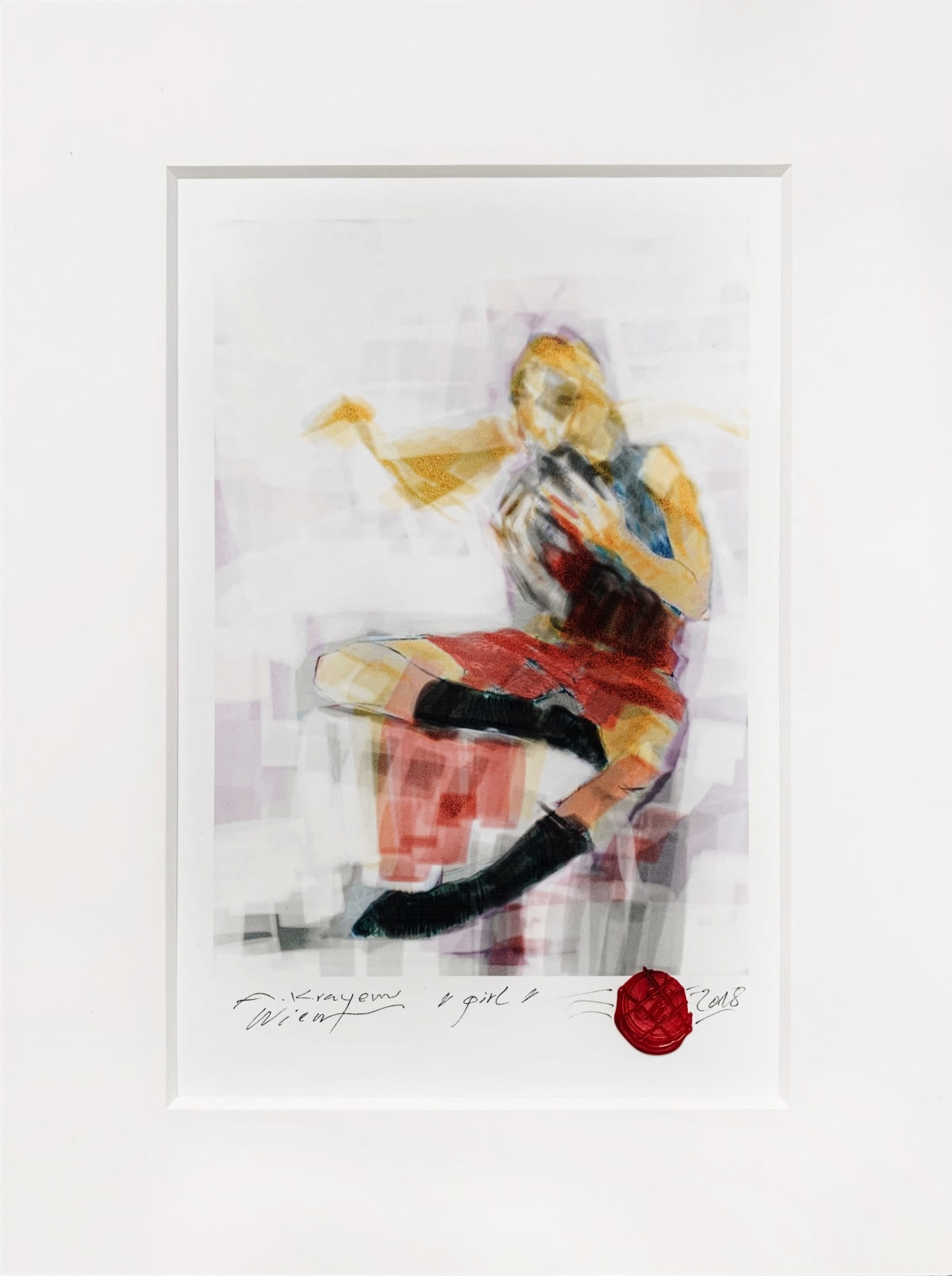 Krayem Maria Awad Girl , 2018 Digital Art, Glicee Print on UV Coated Paper Piece Unique 30 x 20 cm (Framed) 12 x 8 in (Framed)