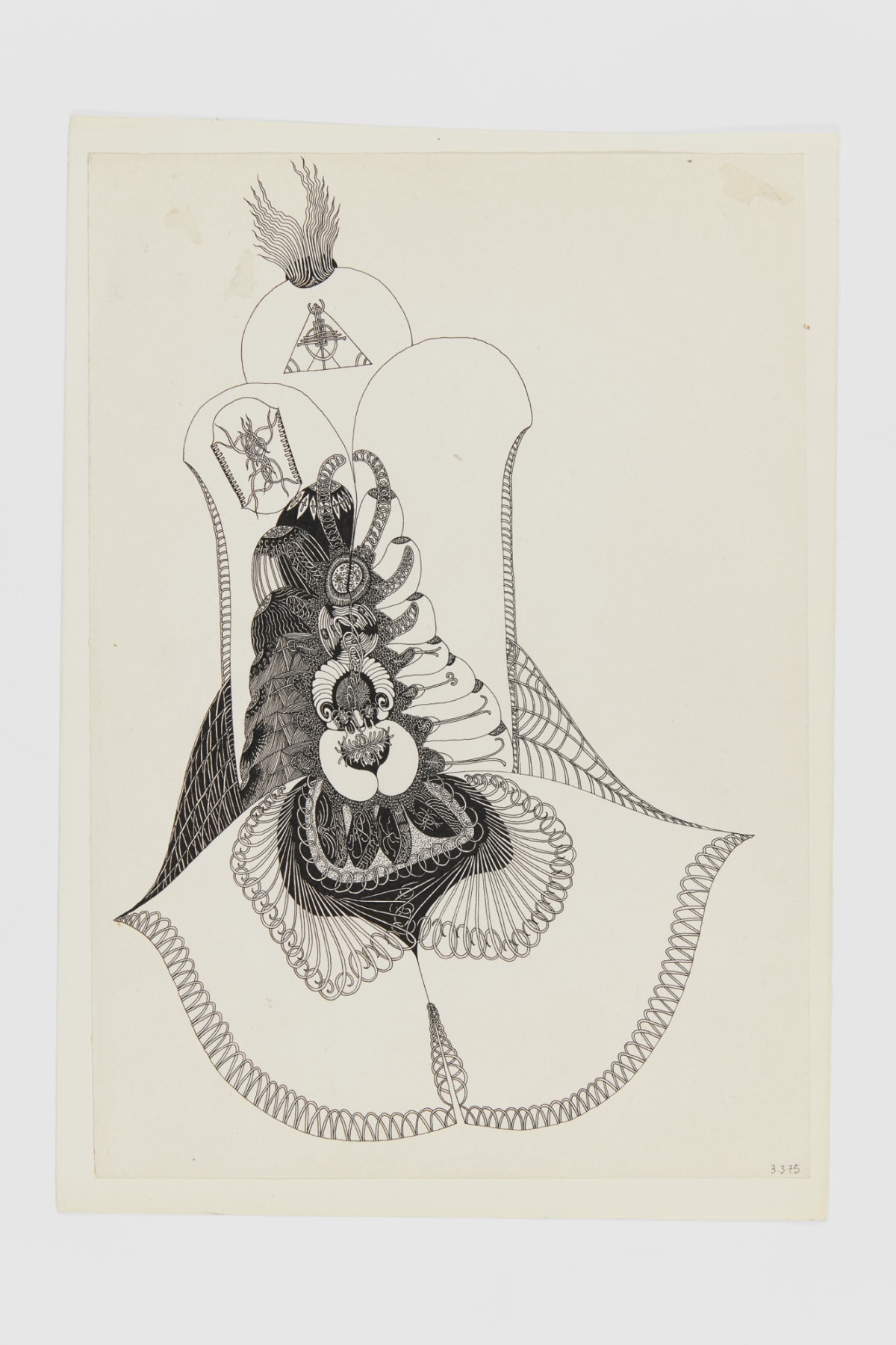 Ann CHURCHILL 3.3.75 (Daily drawing), 1975 Pen on paper 29.7 x 20.9 cm