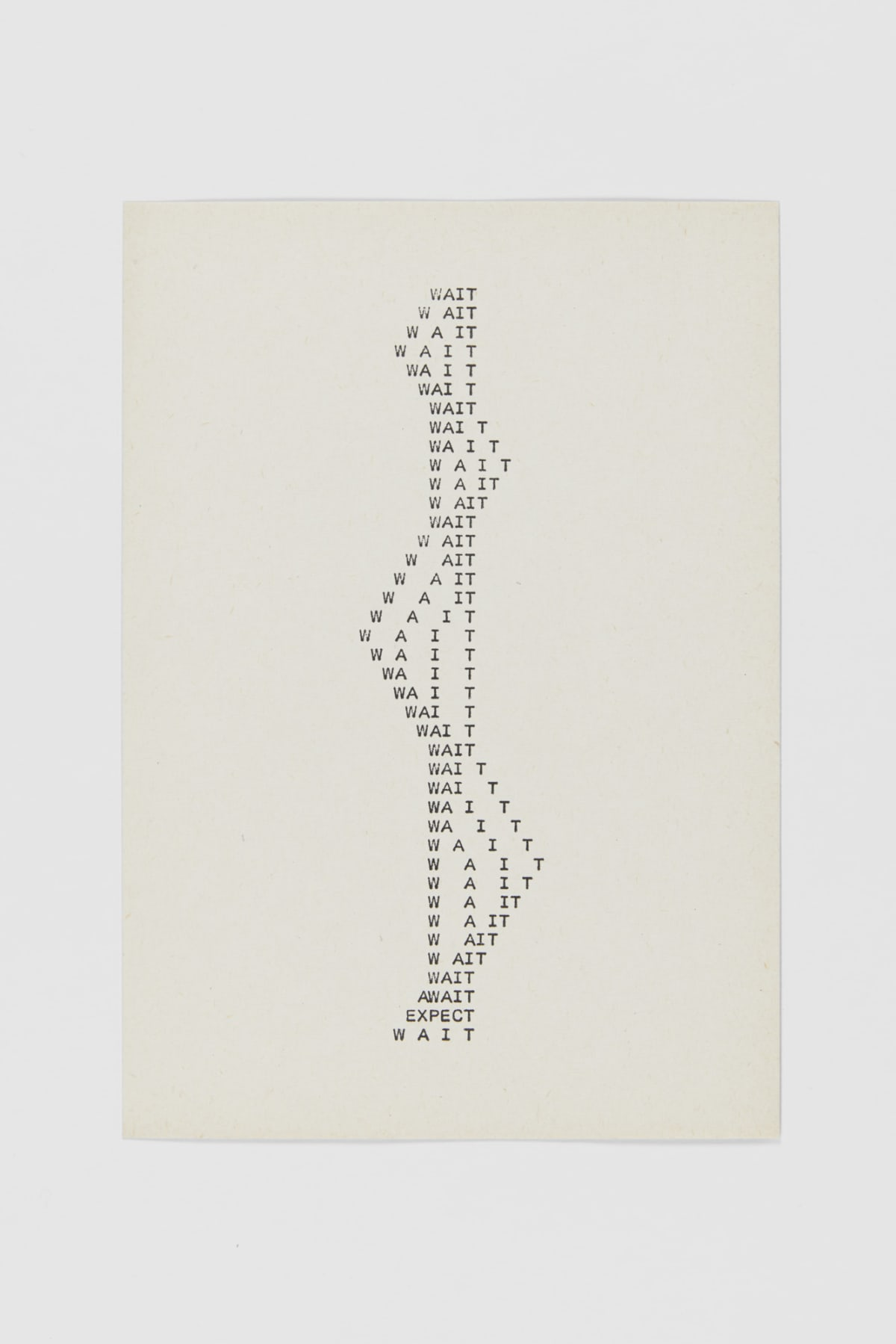 Ruth WOLF-REHFELDT Wait, c.1980 print (zinc lithograph) 21 x 14.7 cm