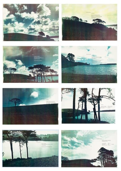 Marie YATES Durgan Field Working Series 2 (from Signals 1975 - 78), 1976 Set of 8 colour Photostats mounted on board. Vintage and unique 21.25 x 32.5 cm (photostats) 38 x 50 cm (mounts)