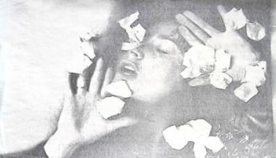Penny SLINGER Coming Up Roses/Petals Fall-2, 1974 Xerox self monoprint 29.2 x 48.3 cm