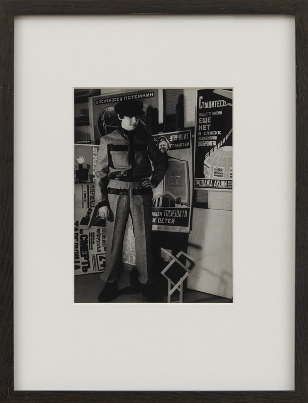 Alexander RODCHENKO Sacha Lewrankev in Rodchenko's worker suit, 1921 Black and white photograph 24 x 18 cm