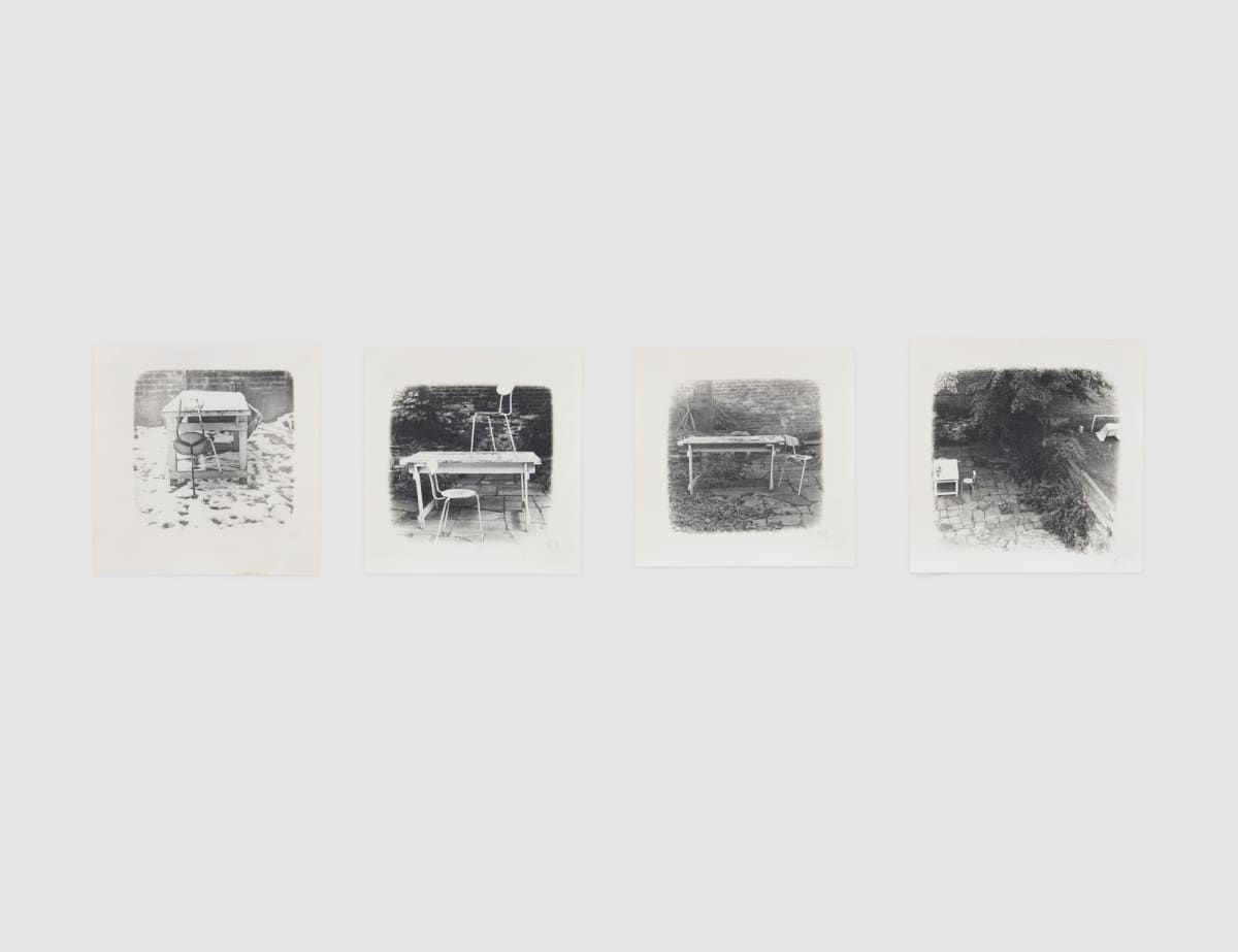 Shelagh WAKELY It is so green outside it is difficult to leave the window, 1974-79 Set of 4 gelatin silver prints Each: 10 x 10 cm circa