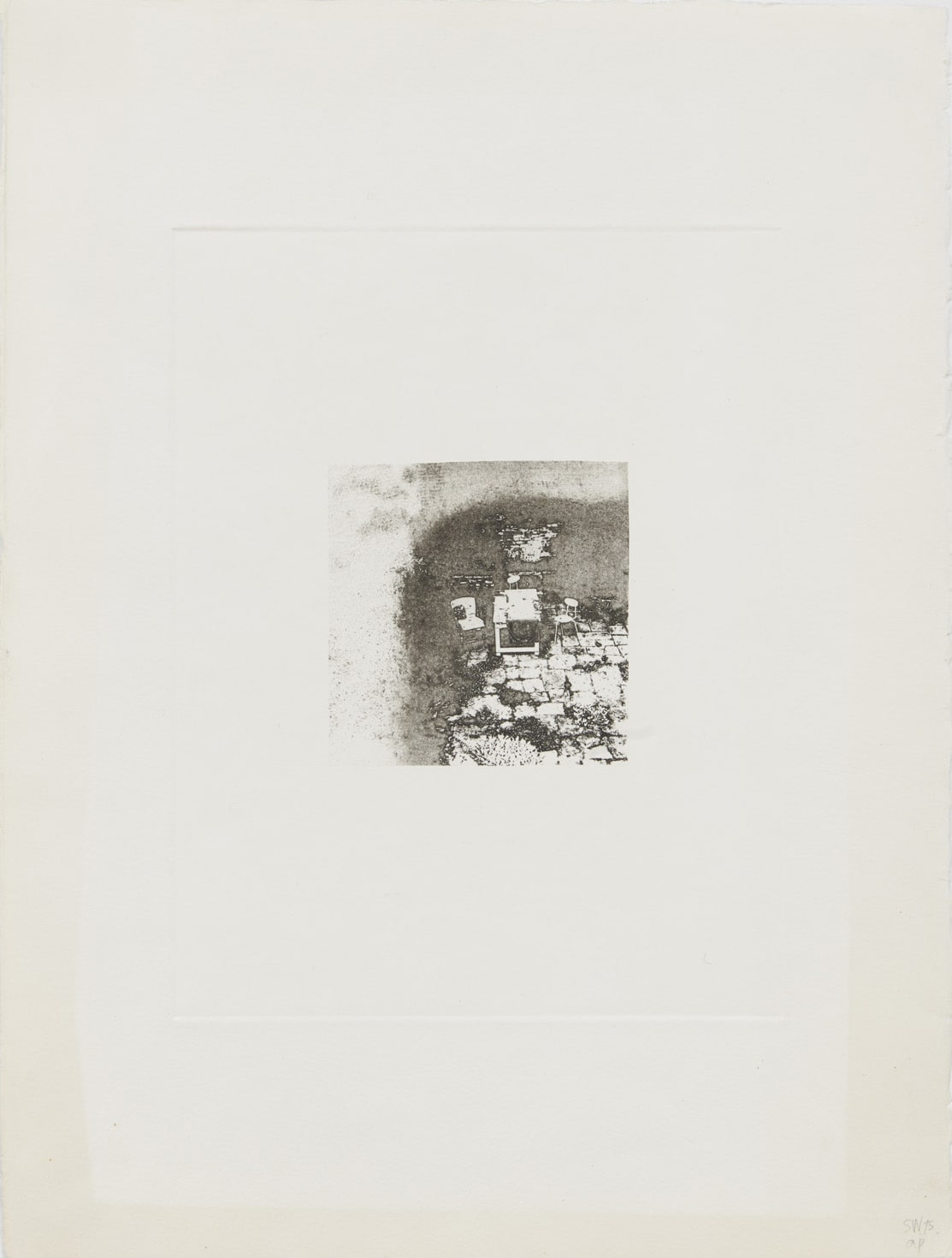 Shelagh WAKELY Another person's garden, 1975 Etching 39.5 x 29.7 cm