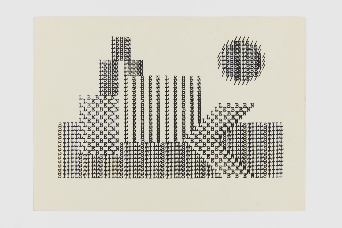 Ruth WOLF-REHFELDT Still-leben, c.1980 print (zinc lithograph 20.9 x 29.6 cm