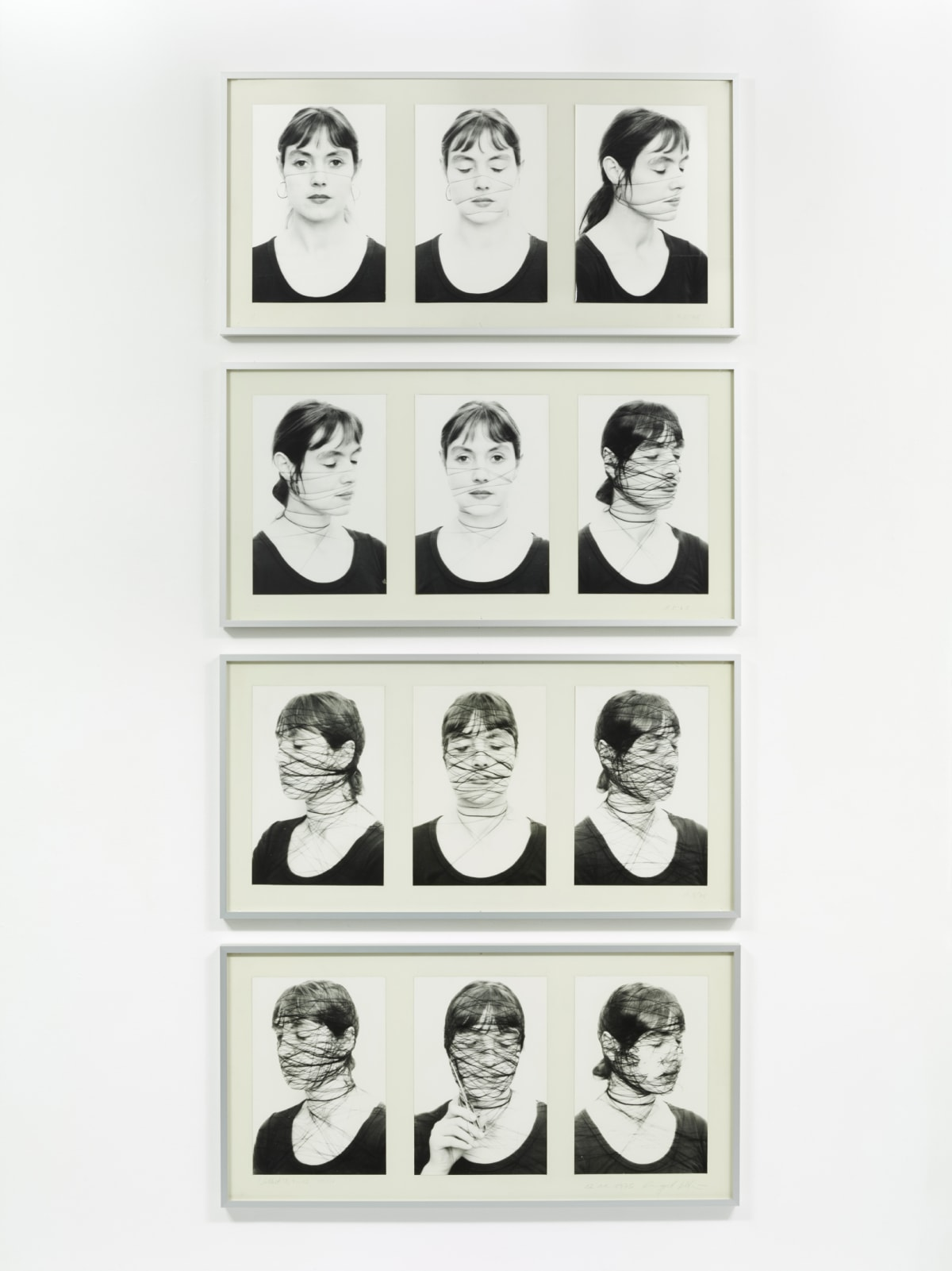 Annegret SOLTAU Selbst II, 1-12 (Self II, 1-12), 1975 12 Black and white photographs on baryta paper, mounted on cardboard Each: 51.5 x 101.5 cm