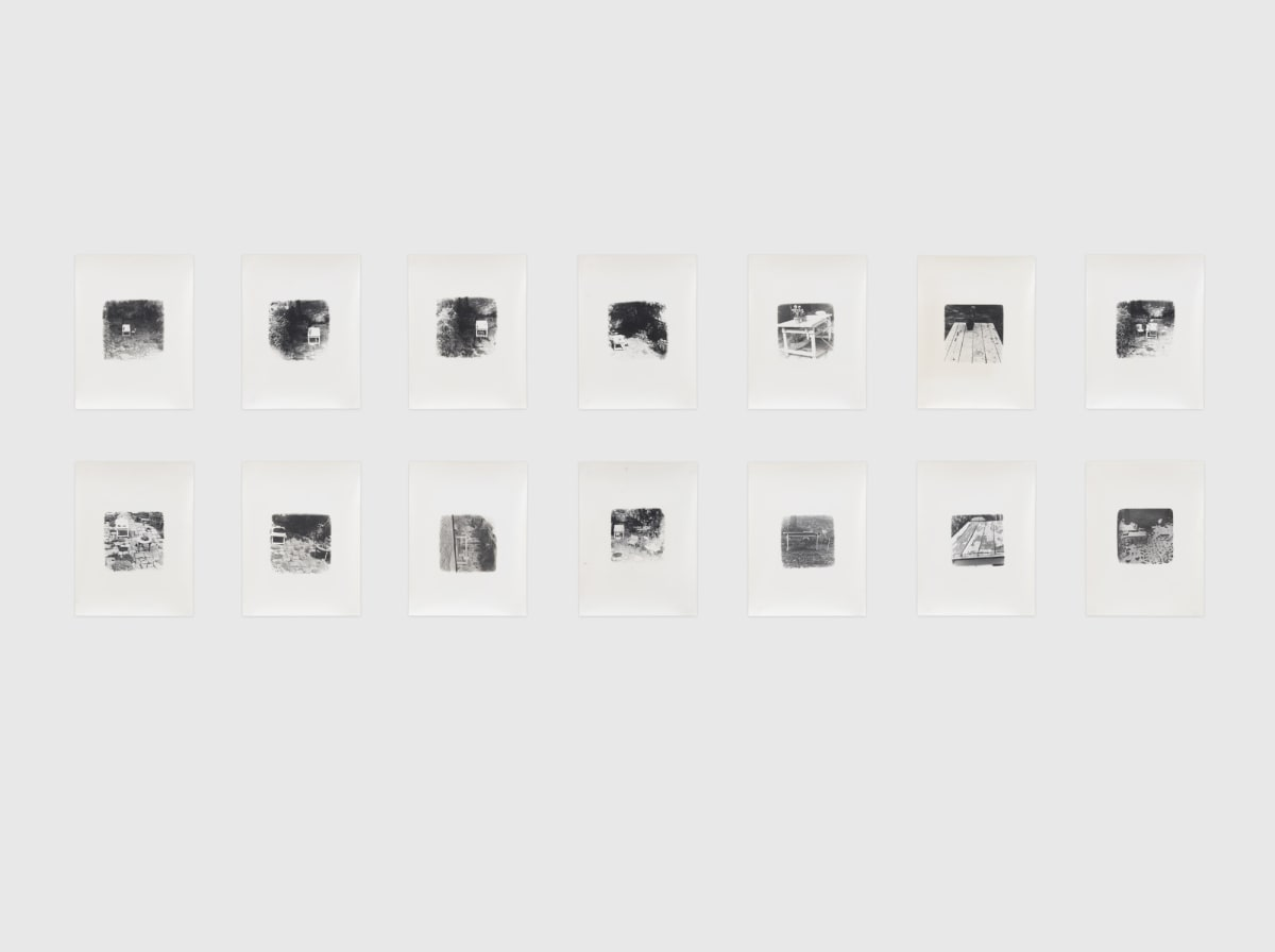 Shelagh WAKELY It is so green outside it is difficult to leave the window, 1974-79 Set of 14 black and white photographs Approx 21.5 x 16.5 cm each