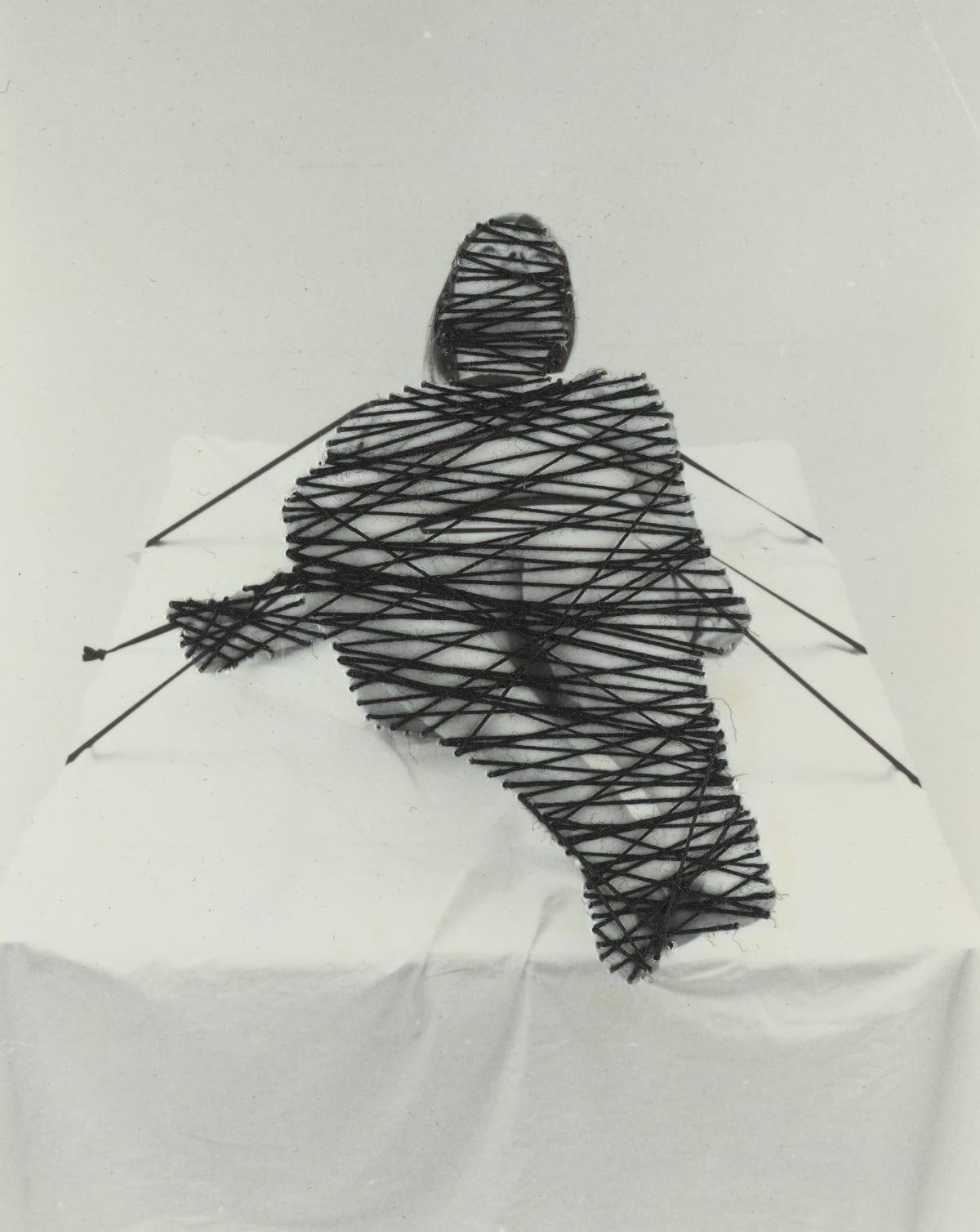 Annegret SOLTAU Ausgeliefert [Vulnerable], 1978 Gelatin silver prints with thread overstitched 10.5 x 8.5 cm