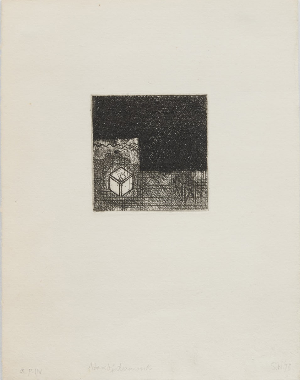 Shelagh WAKELY A box of diamonds, 1973 Etching 24.9 x 19.4 cm 9 3/4 x 7 5/8 in Edition 1 of 5