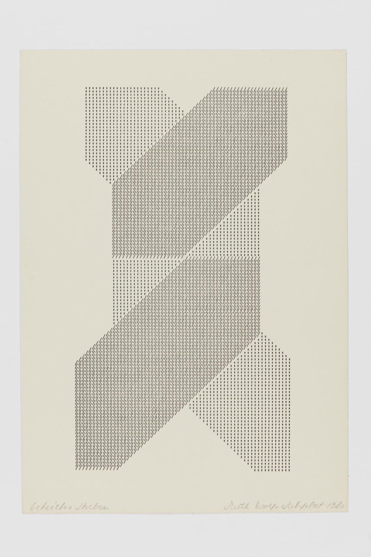 Ruth WOLF-REHFELDT Divided Aspiration, 1980 print (zinc lithograph) 30.5 x 21.5 cm