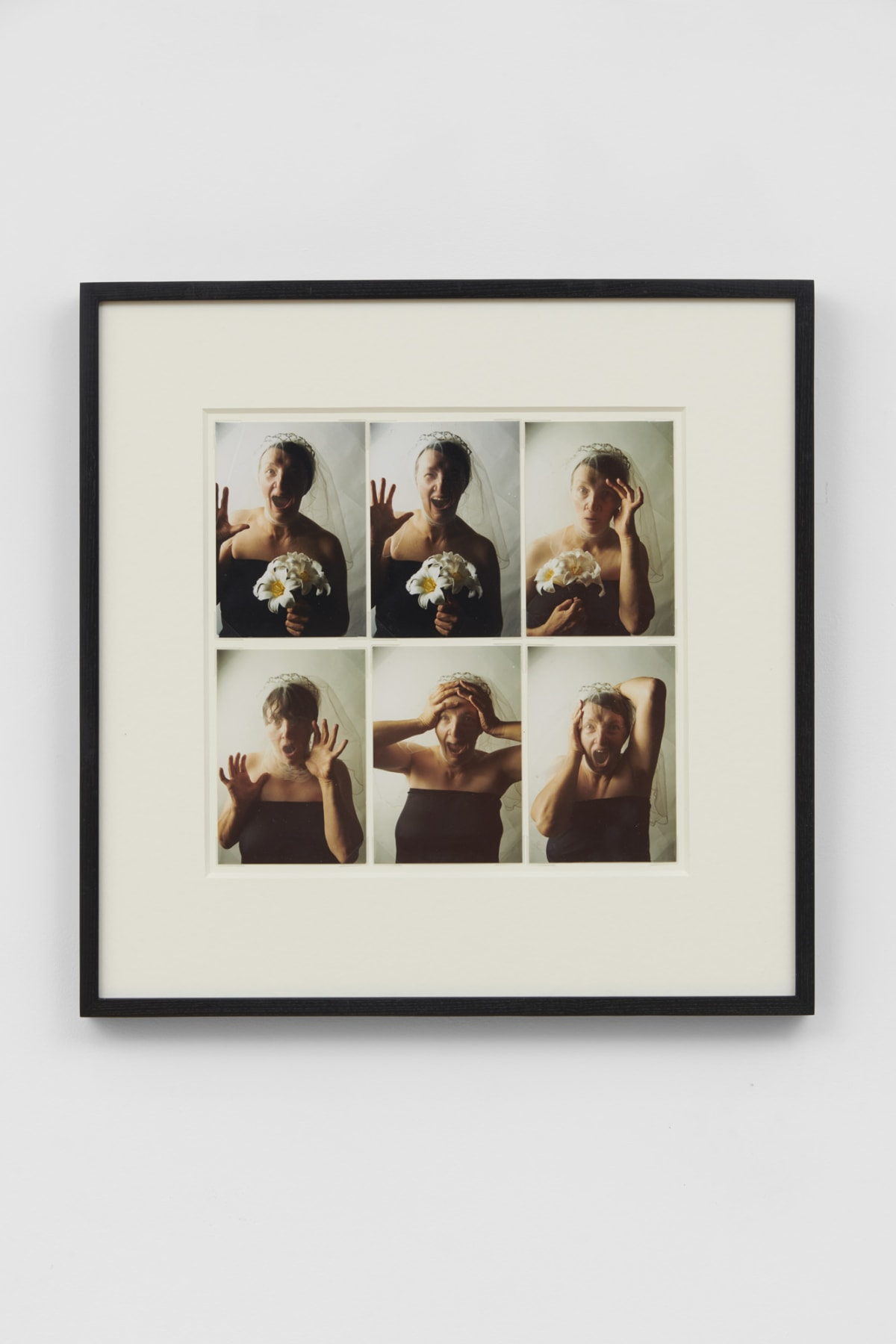 Jo SPENCE Photo Therapy: The Bride, 1984 6 colour photographs mounted on artist's board 14.5 x 10 cm each 30.2 x 31.8 cm board