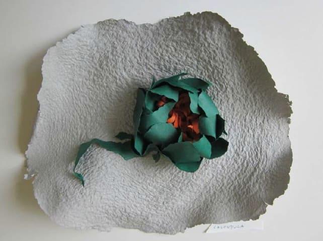 Lili DUJOURIE 1941 - Ballade - Calendula, 2011 Paper mache Unique 33 x 39 x 8 cm