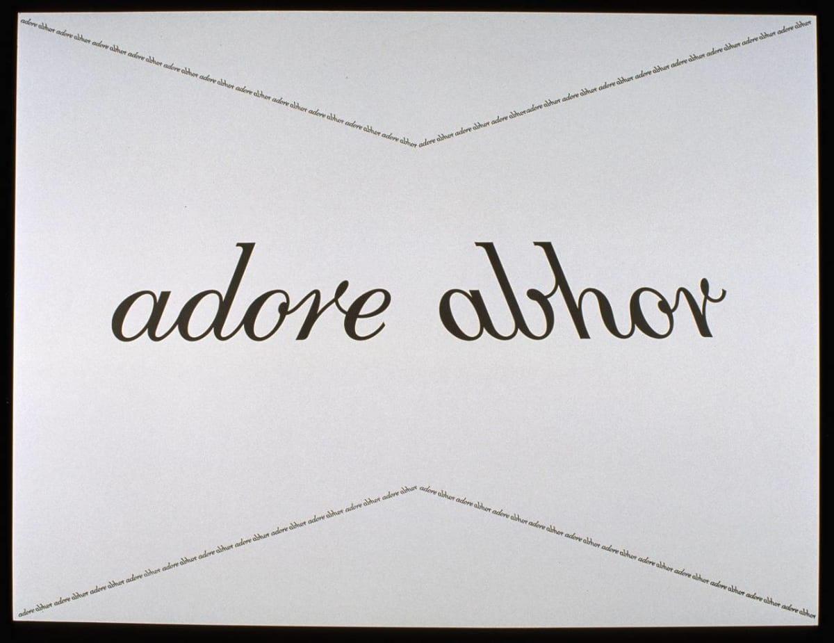 Helen CHADWICK adore abhor, 1994 Screen print on paper 46.5 x 61 cm