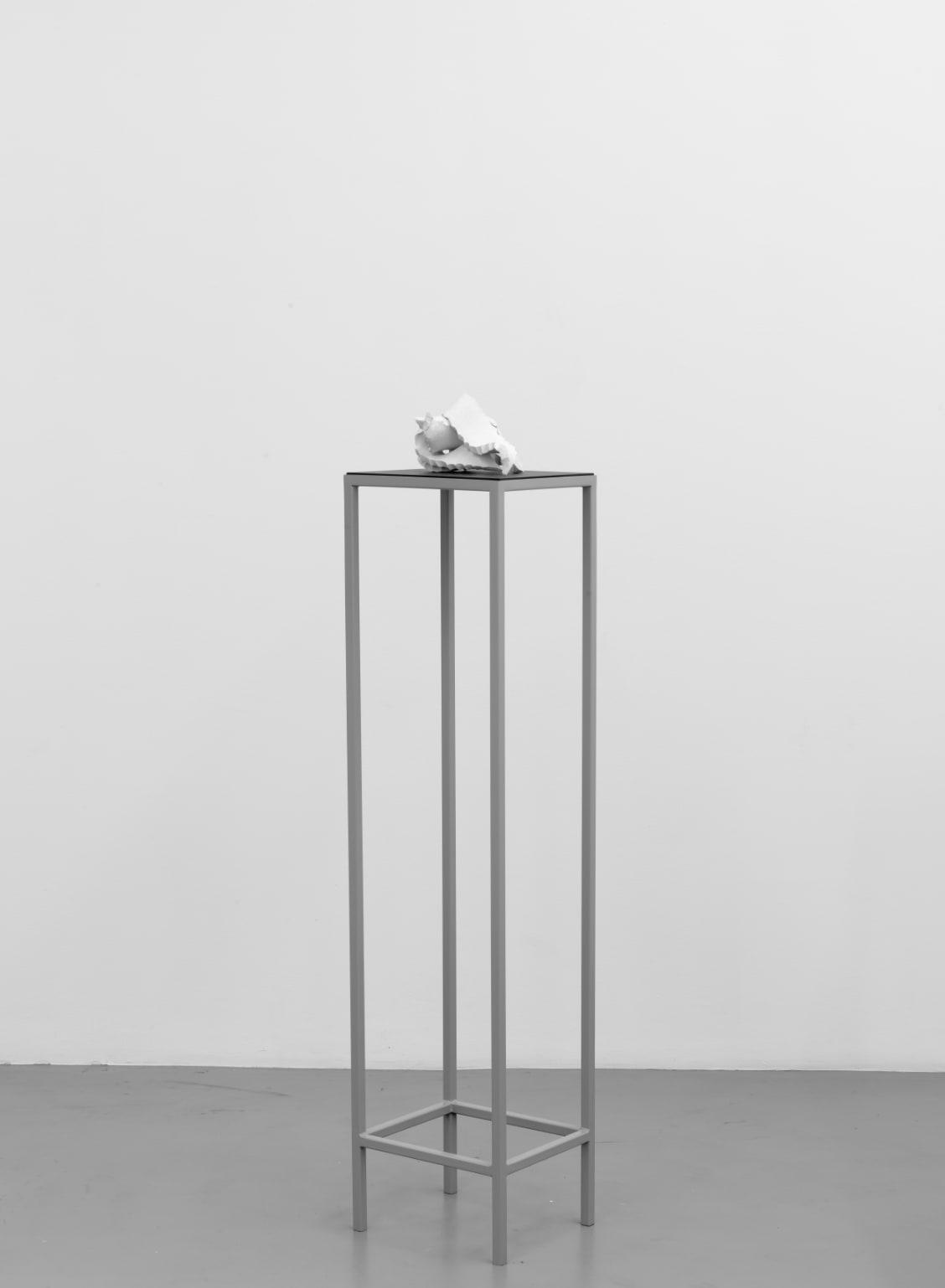 Lili DUJOURIE Epigramme 1, 2008 Metal, baked clay 148.5 x 33 x 29.5 cm