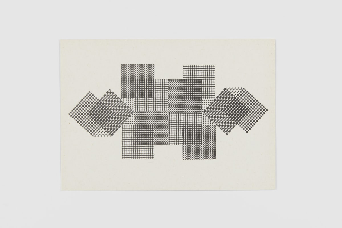Ruth WOLF-REHFELDT Konstruktion, c.1980 print (zinc lithograph) 14.8 x 21.1 cm