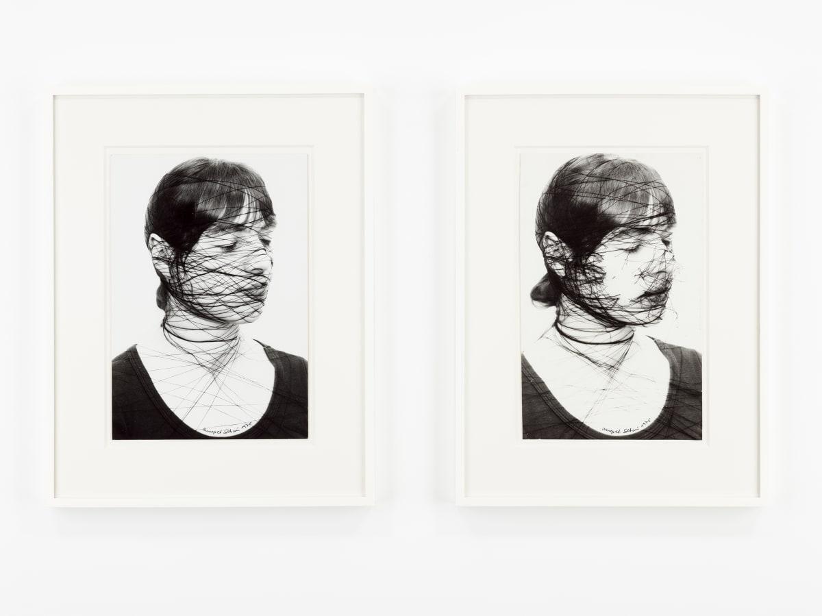 Annegret SOLTAU Selbst [Self], 1975 Set of 2 vintage gelatin silver prints, unique and vintage Each: 39 x 25 cm