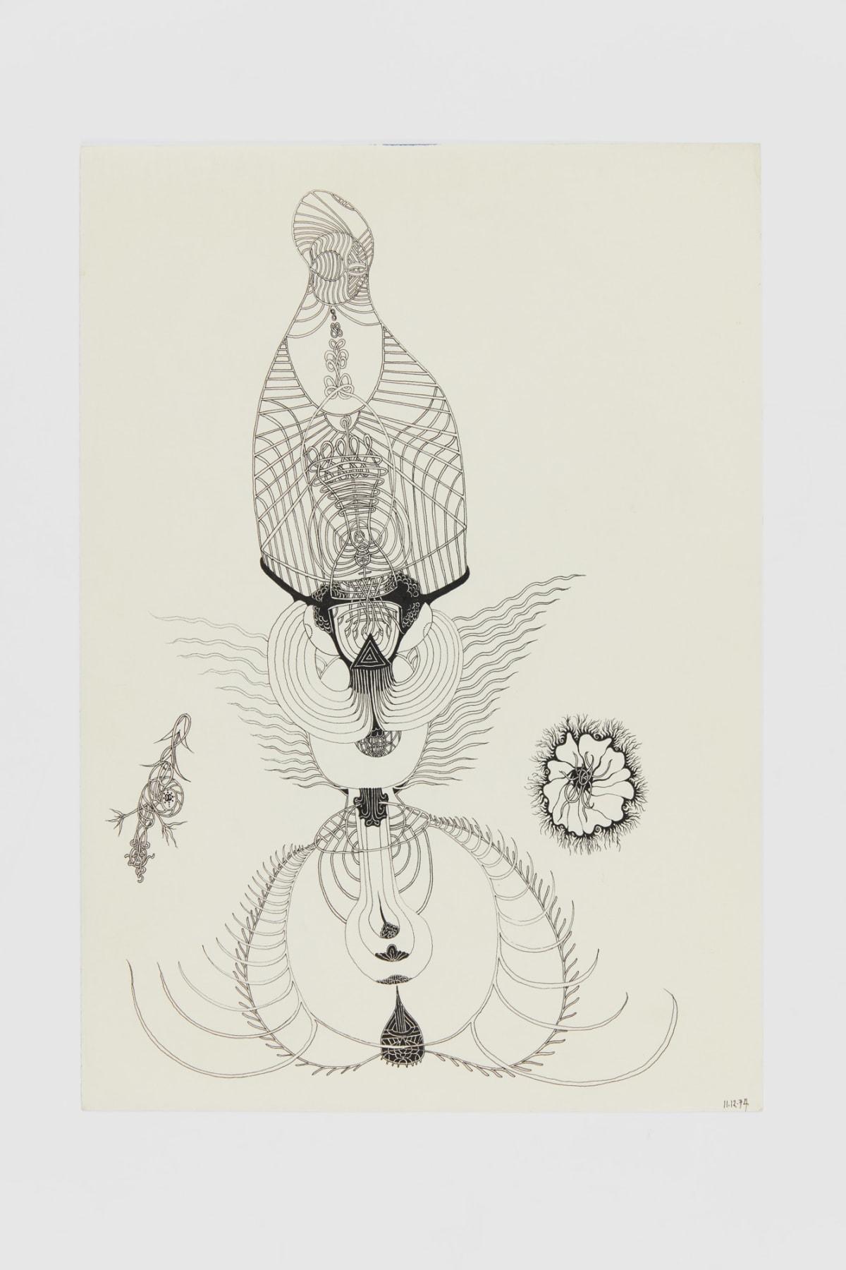 Ann CHURCHILL 11.12.74 (Daily drawing), 1974 Pen on paper 29.7 x 20.9 cm