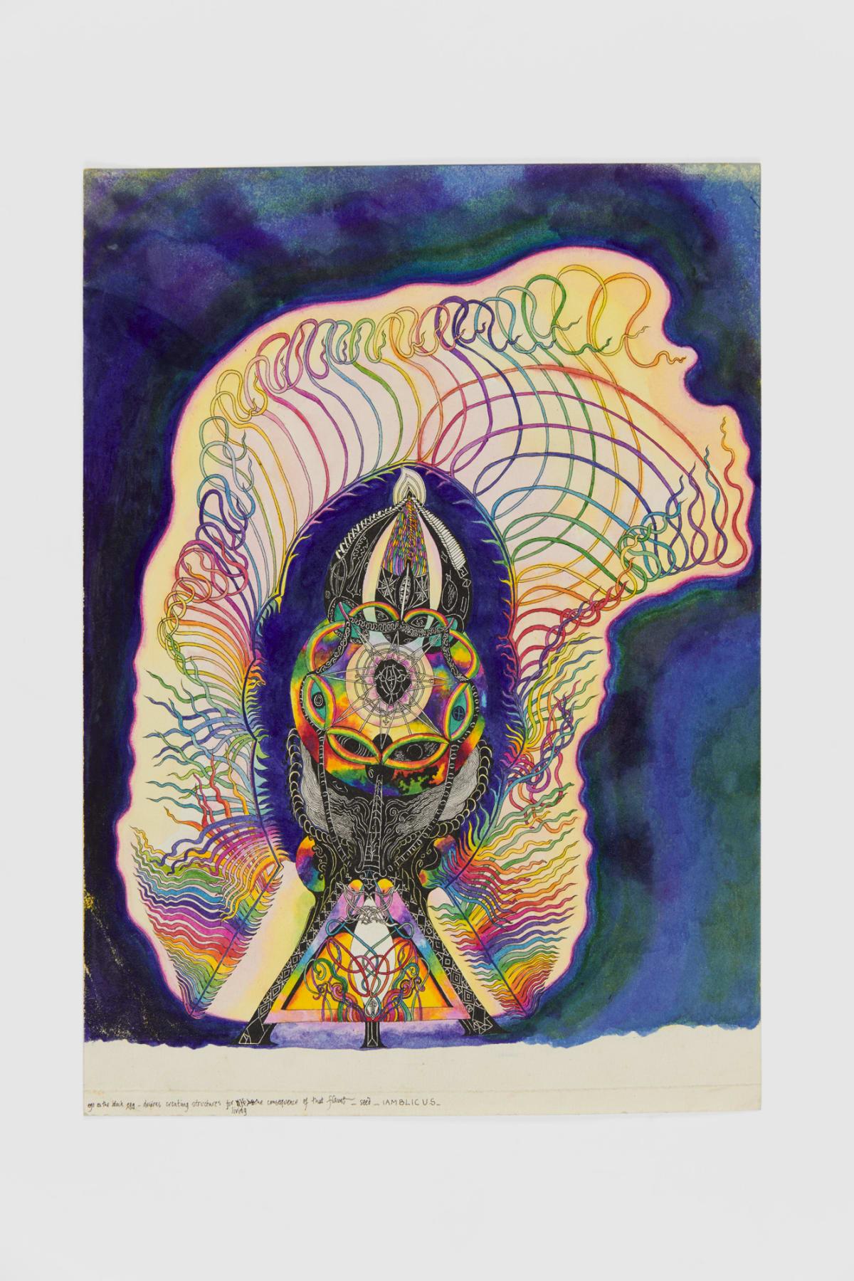 Ann CHURCHILL Coloured drawing (IAMBLICUS), 1978 Ink on paper 20.9 x 29.7 cm