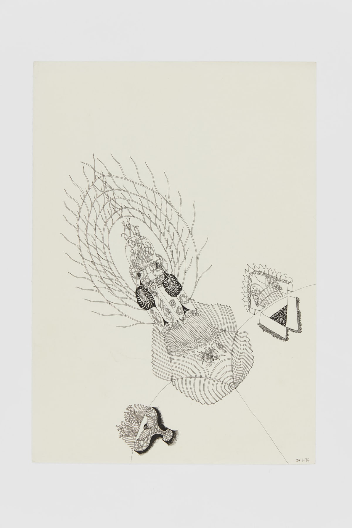 Ann CHURCHILL 24.4.74 (Daily drawings), 1974 Pen on paper 29.7 x 20.9 cm
