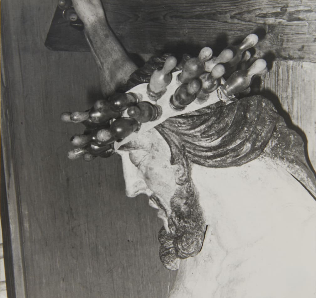 Renate BERTLMANN Tender Christ, 1981 Black and white photograph Vintage and unique 11.3 x 10.7 cm