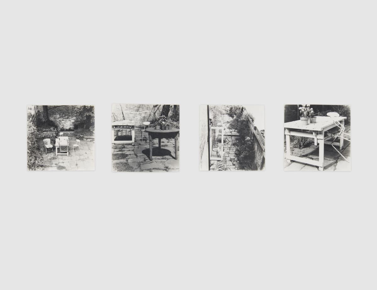 Shelagh WAKELY It is so green outside it is difficult to leave the window, 1974-79 Set of 4 gelatin silver prints Each: 8 x 8 cm circa