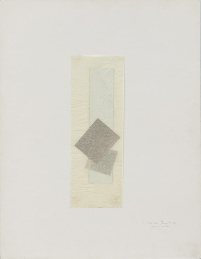 Francoise JANICOT Dessins cachés, 1969 Collage and mixed media on paper 65 x 50 cm