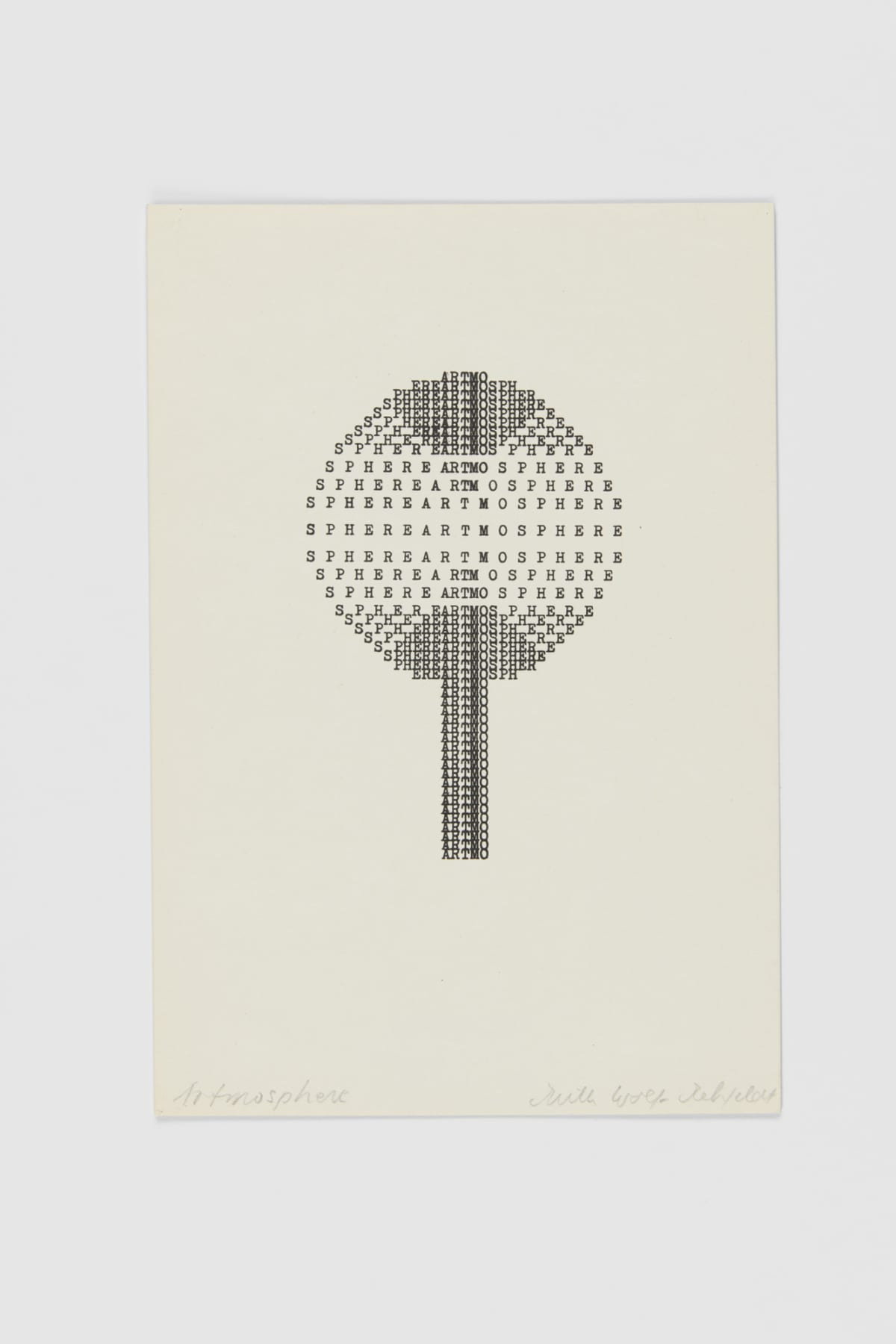 Ruth WOLF-REHFELDT Artmosphere, 1980 print (zinc lithograph) 21.6 x 14.9 cm