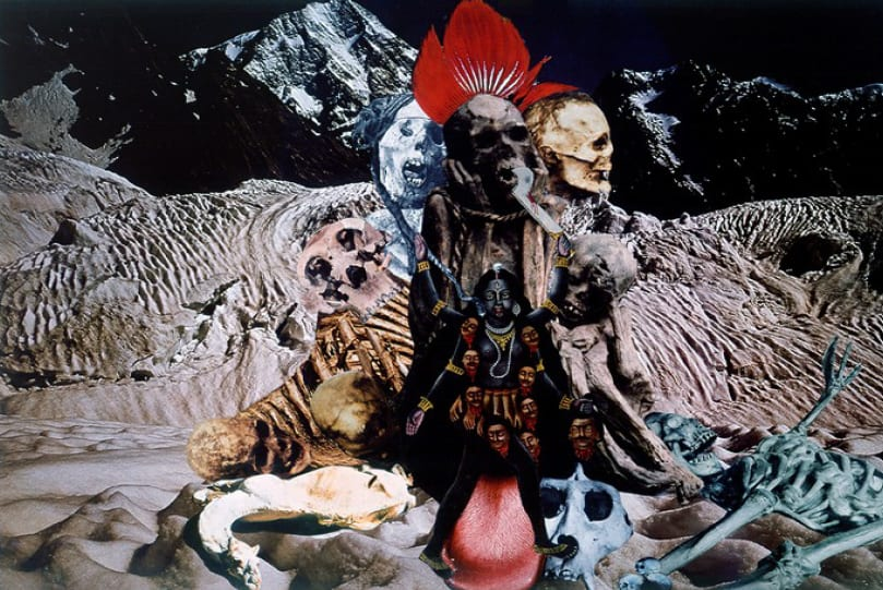 Penny SLINGER At the Feet of Kali, 1976/77 Photo collage on board 41.9 x 58.4 cm