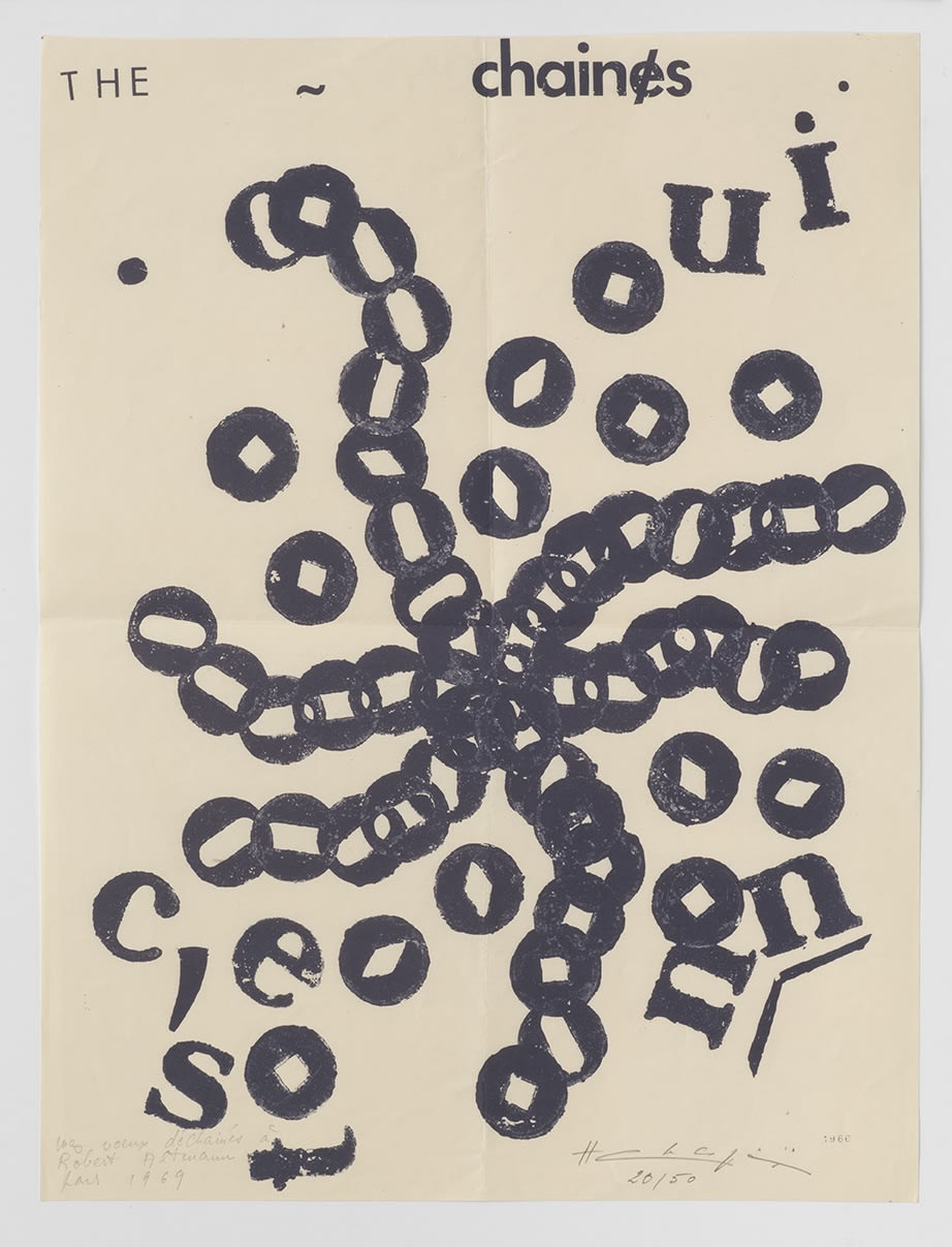 Henri CHOPIN The Chaines, 1969 Screen-print 47.3 x 36 cm Edition 20 of 50