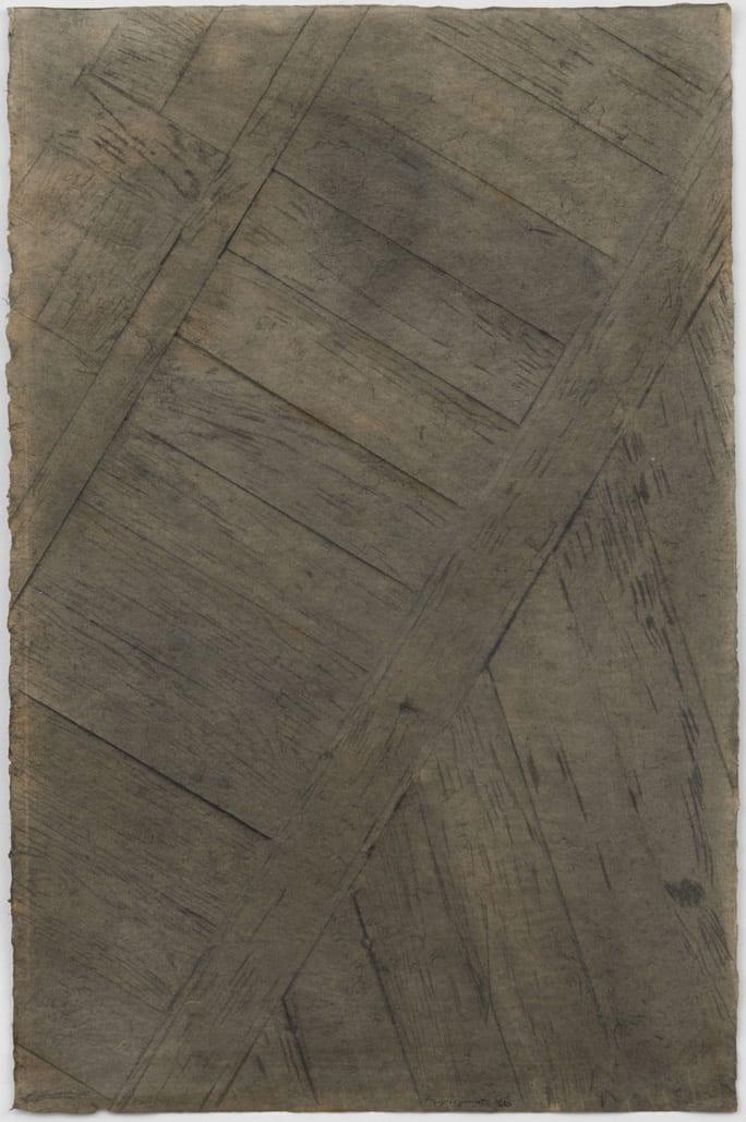 Francoise JANICOT Floor of the artist's studio, 1976 Ink on Japanese paper 97 x 63 cm