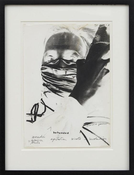 Francoise JANICOT Winding my self, encoconnage positif- négatif, 1972/1977 Photographic impression, unique 21 x 29.7 cm