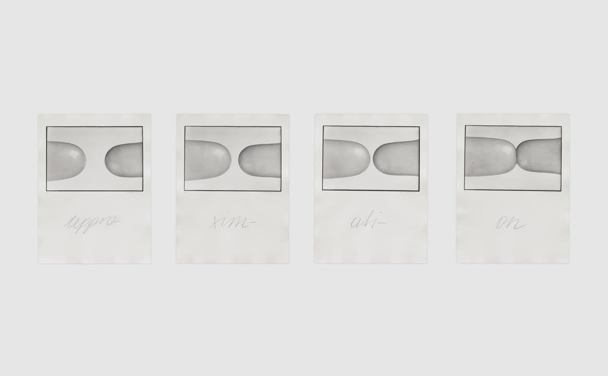 Renate BERTLMANN Approximation: Zärtliche Berührungen [Tender Touches], 1976 Four black and white photographs, vintage and unique Each: 40 x 30 cm