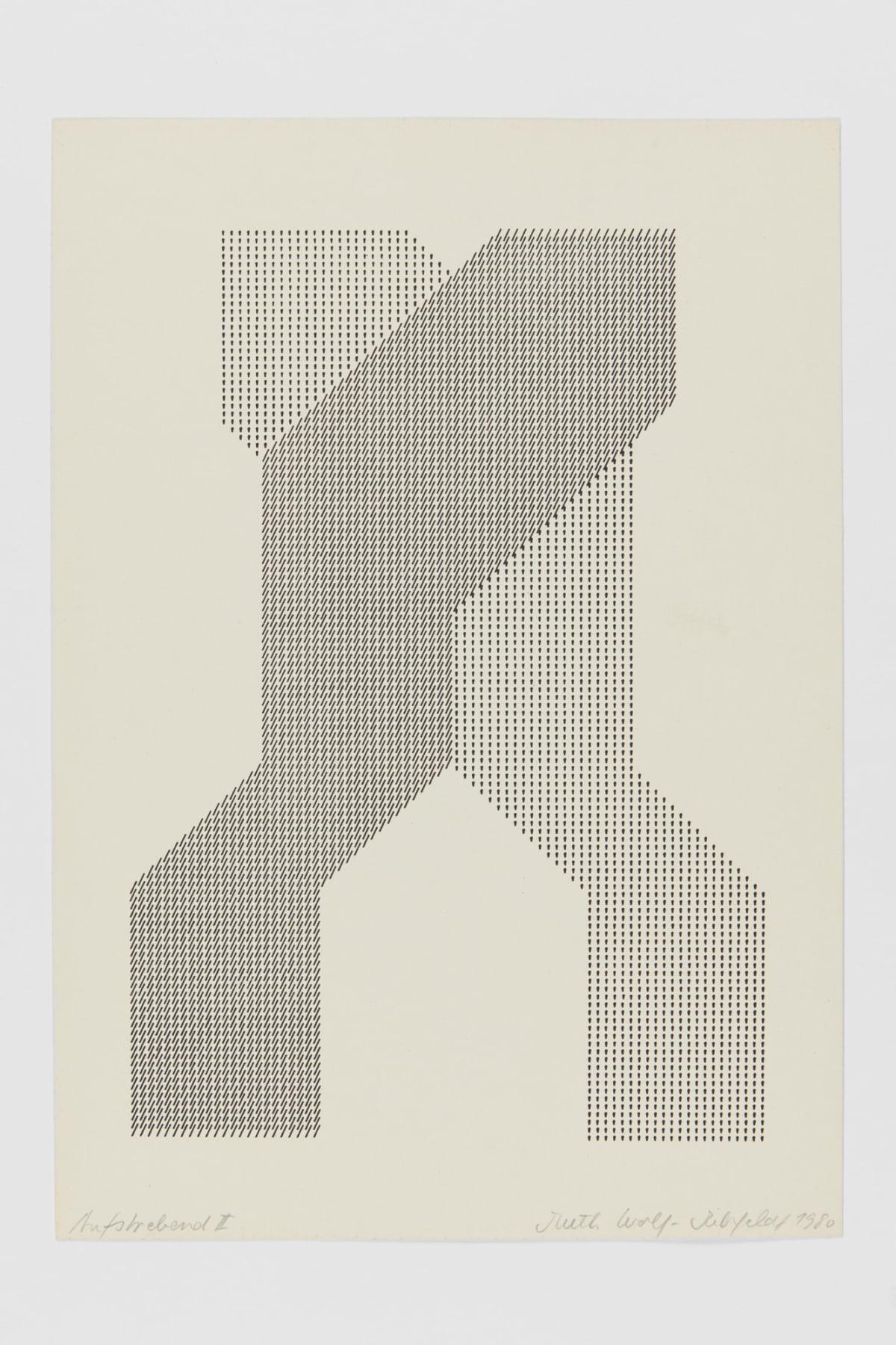 Ruth WOLF-REHFELDT Aspiring, 1980 print (zinc lithograph) 30.6 x 20.5 cm