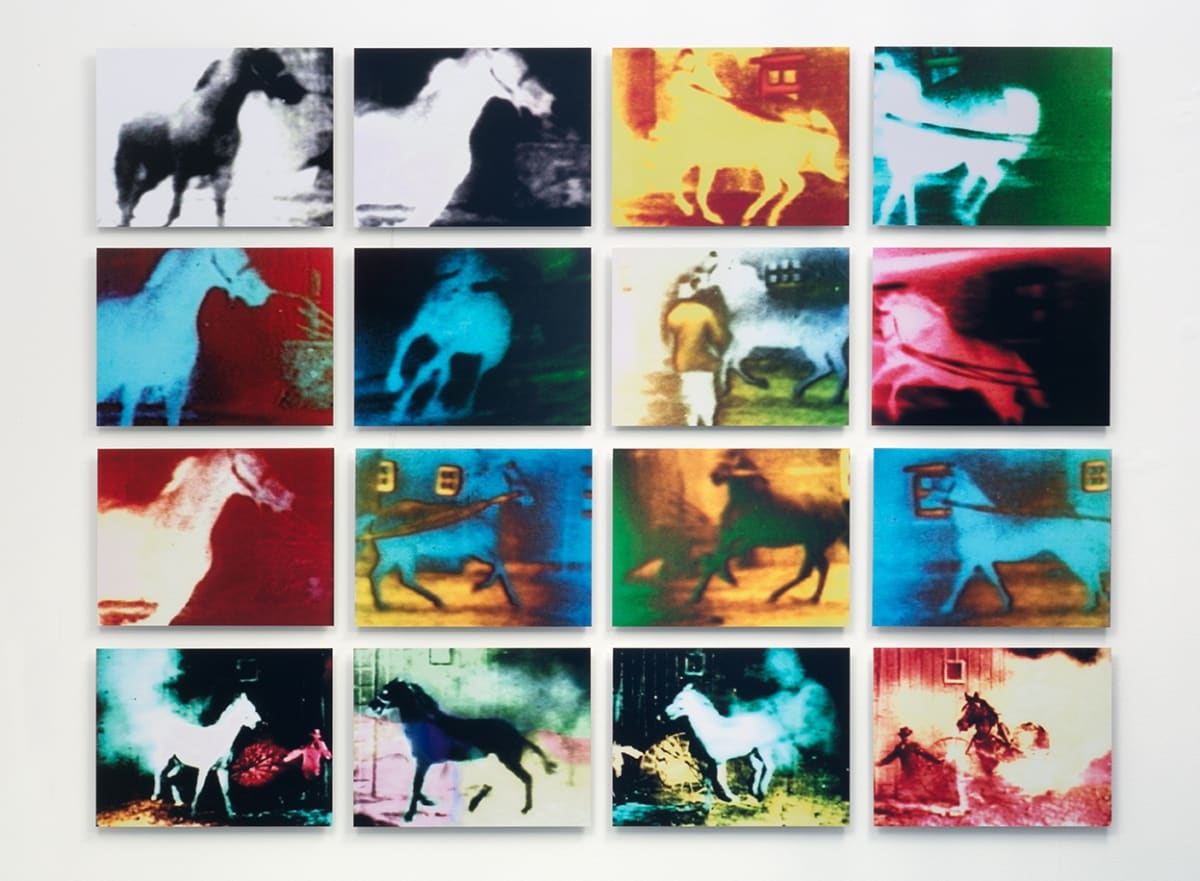 Malcolm LE GRICE Berlin Horse, 1970/2015 16 C-type prints 33 x 44 cm (each) 138 x 184 cm (overall) Edition of 16
